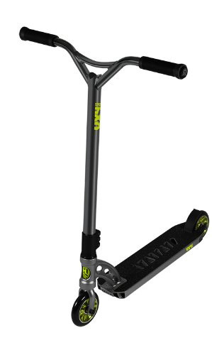 Madd Gear VX4 Extreme Scooter Gray and Lime Green Scooter Complete