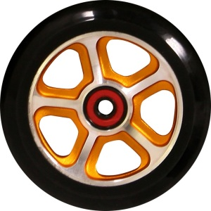Madd Gear Filth Scooter Wheel 110mm Black and Gold Scooter Wheel