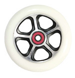 Madd Gear Forged Scooter Wheel 110mm Black and White Scooter Wheel