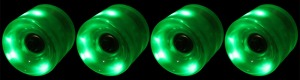 led-longboard-wheel-60mm-green-set-of-4