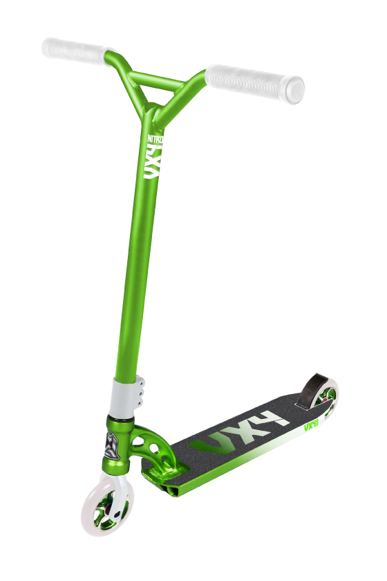 Madd Gear VX4 Nitro Scooter Lime and White Scooter Complete
