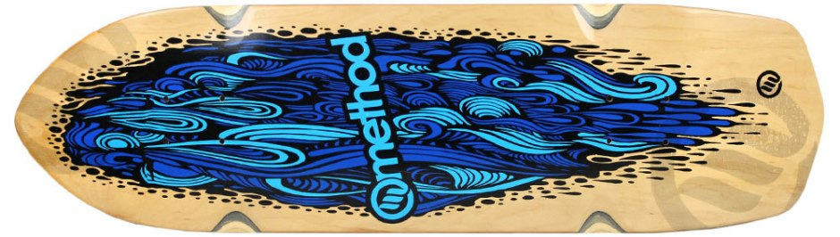 "Method Deck Aggressor Flow Blue 8.75"" x 31.5"""