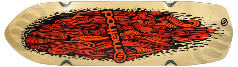 "Method Deck Aggressor Flow Orange 8.75"" x 31.5"""