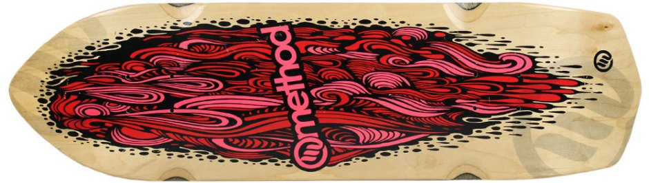 "Method Deck Aggressor Flow Pink 8.75"" x 31.5"""