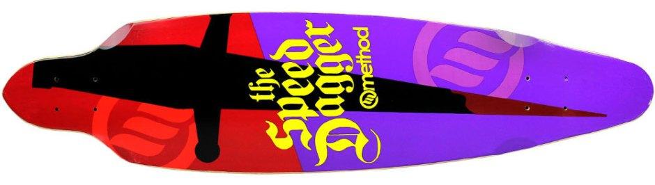 "Method Deck Impluse Dagger Purple 9"" x 36"""
