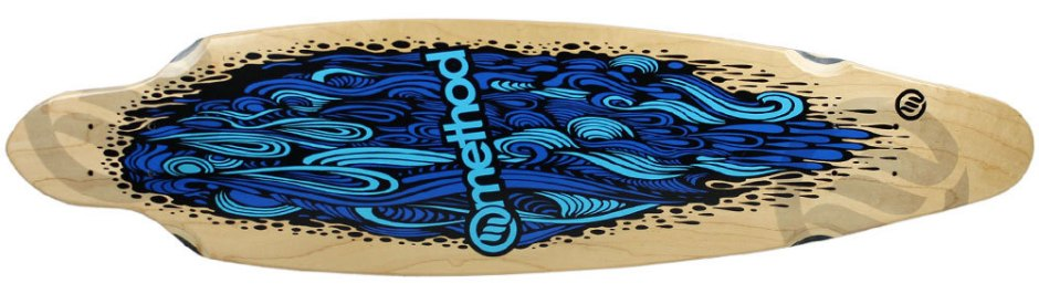 "Method Deck Impluse Flow Blue 9"" x 36"""