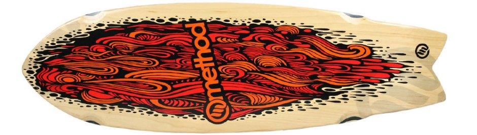 "Method Deck Swallow Tail Flow Orange 9.25"" x 30.25"""