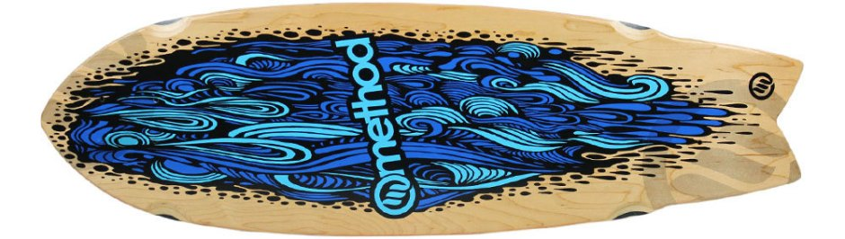 "Method Deck Swallow Tail Flow Blue 9.25"" x 30.25"""