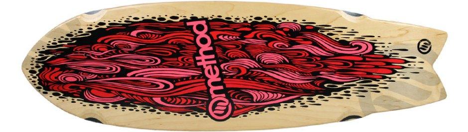 "Method Deck Swallow Tail Flow Pink 9.25"" x 30.25"""