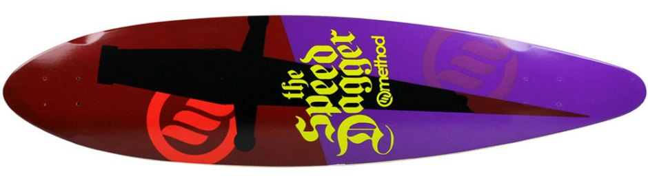 "Method Deck Pintail Speed Dagger 9.75"" x 40.75"""