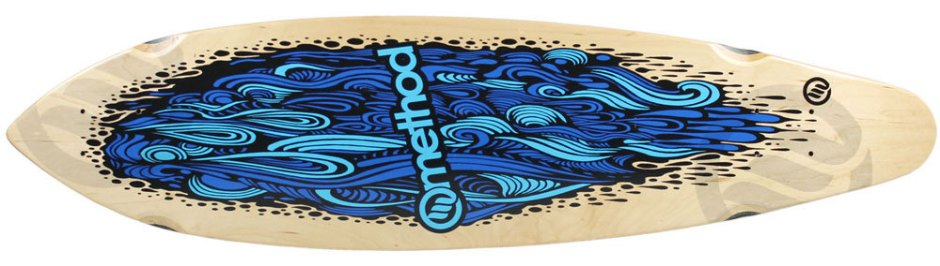 "Method Deck Zev Flow Blue 9"" x 36"""