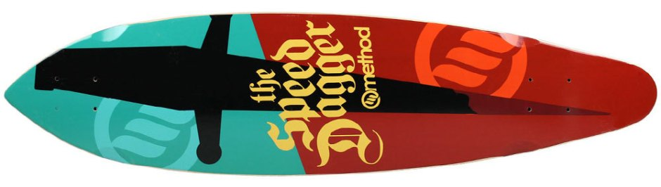 "Method Deck Zev Dagger Turquoise 9"" x 36"""