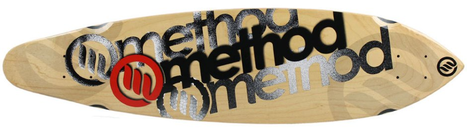 "Method Deck Zev Logo Red 9"" x 36"""