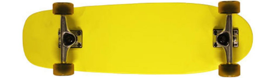 Moose Old School Neon Yellow Longboard Cruiser Skateboard Complete (Bottom 2)