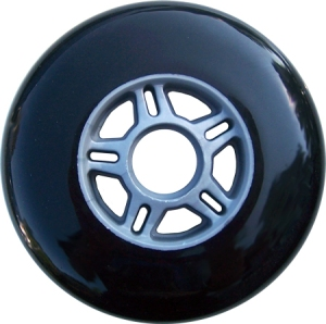 Blank Scooter Wheel 100mm Black and Grey Scooter Wheel