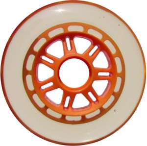 Blank Scooter Wheel 100mm Clear and Orange Scooter Wheel