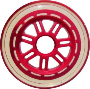 Blank Scooter Wheel 100mm Clear and Red Scooter Wheel