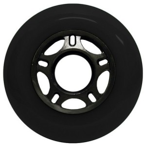 Blank Inline Wheel Black and Black 76mm 89a Inline Wheel