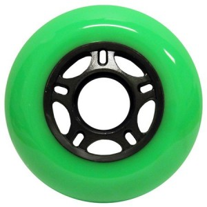 Blank Inline Wheel Green and Black 80mm 89a Inline Wheel