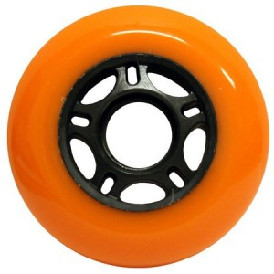 Blank Inline Wheel Orange and Black 80mm 89a Inline Wheel