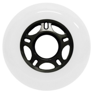 Blank Inline Wheel White and Black 76mm 89a Inline Wheel