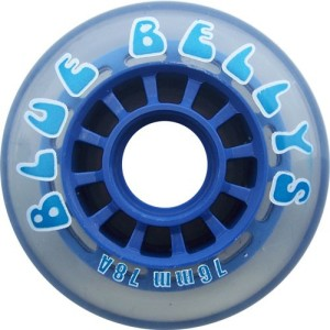 Blank Inline Wheel Blue Bellys 76mm 78a Inline Wheel