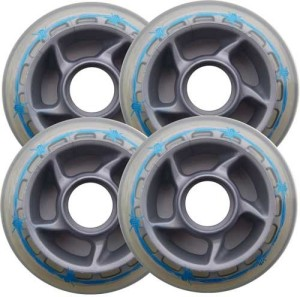 Blank Inline Wheel Barbed Wire 80mm 81a Set of 4 Inline Wheels