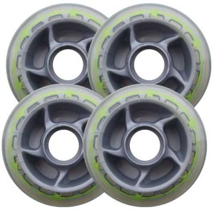 Blank Inline Wheel Barbed Wire 80mm 78a Set of 4 Inline Wheels