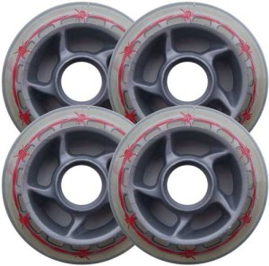Blank Inline Wheel Barbed Wire 80mm 80a Set of 4 Inline Wheels