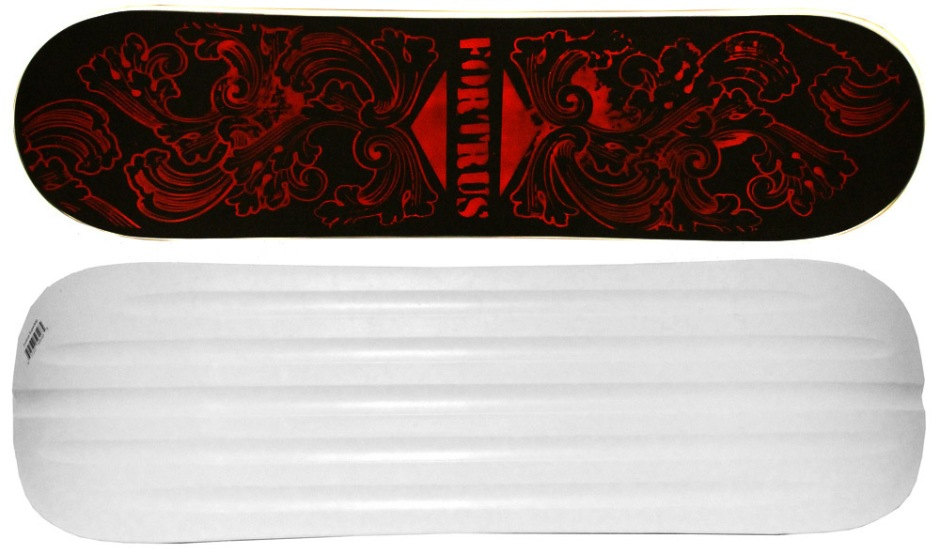 "Fortus 35"" Supertrip Black and Red Snowskate (Top and Bottom)"
