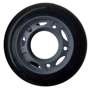 Blank Inline Wheel Black 64mm 82a 5 Spoke Inline Wheel