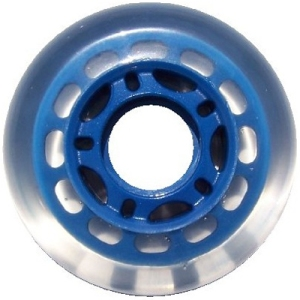 Blank Inline Wheel Clear and Blue 68mm 78a 5 Spoke Inline Wheel