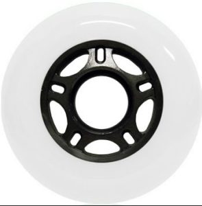 Blank Inline Wheel White and Black 72mm 89a Inline Wheel