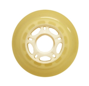 Blank Inline Wheel Clear and White 76mm 82a Inline Wheel