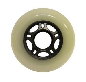 Blank Inline Wheel White and Black 76mm 82a Inline Wheel