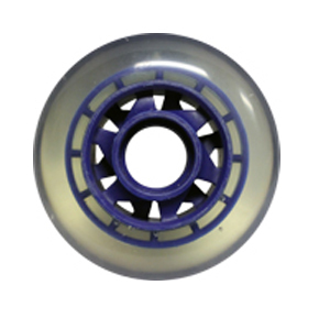 Blank Inline Wheel Clear and Blue 76mm 82a Inline Wheel