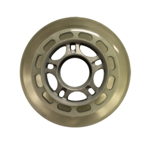 Blank Inline Wheel Clear and Gray 76mm 82a Inline Wheel