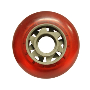 Blank Inline Wheel Red and Gray 76mm 82a Inline Wheel