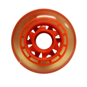 Blank Inline Wheel Clear and Red 76mm 82a Inline Wheel