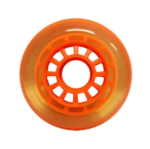 Blank Inline Wheel Clear and Orange 76mm 82a Inline Wheel
