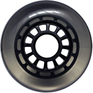 Blank Inline Wheel Clear and Black 76mm 82a Inline Wheel