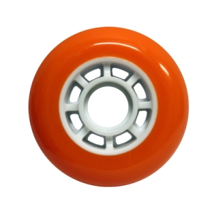 Blank Inline Wheel Orange and White 76mm 82a Inline Wheel