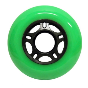 Blank Inline Wheel Green and Black 76mm 89a 5 Spoke Inline Wheel