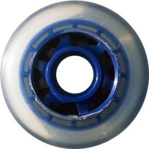 Blank Inline Wheel Clear and Blue 77mm 78a Inline Wheel