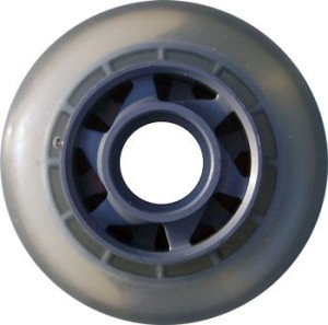 Blank Inline Wheel Clear and Silver 77mm 78a Inline Wheel
