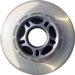 Blank Inline Wheel Clear and Silver 76mm 82a Inline Wheel