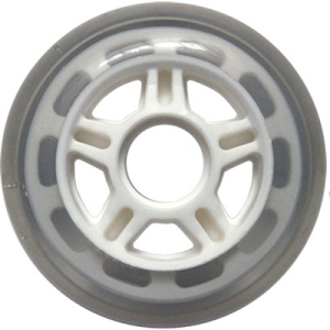 Blank Inline Wheel Clear and White 80mm 82a Inline Wheel