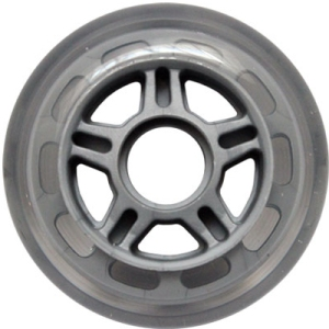 Blank Inline Wheel Clear and Gray 80mm 82a Inline Wheel