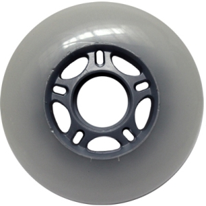 Blank Inline Wheel White and Silver 80mm 83a Inline Wheel