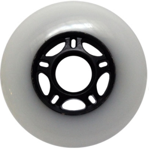 Blank Inline Wheel White and Black 80mm 83a Inline Wheel